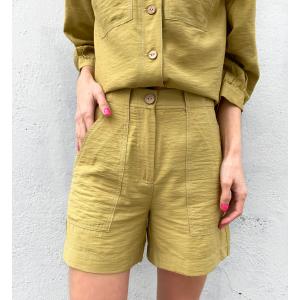 Leno Shorts - Khaki