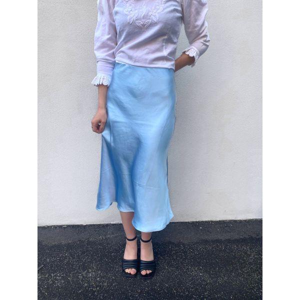 Pastella Midi Skirt - Whispy Blue