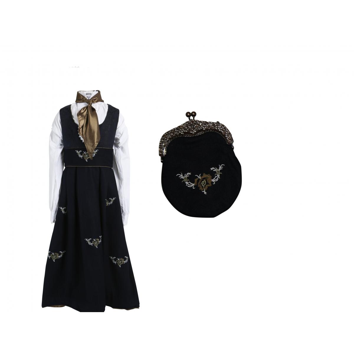 Maxemilia Festdrakt med cape og veske
