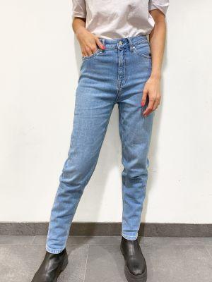 Angie Mom Jeans Wash Lima - Denim Blue