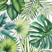 """""""Tropical Leaves"""" kaffeserviett"""