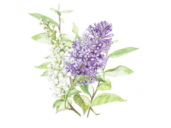"""Lilac White"" lunsjserviett"