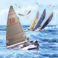 """""""Sailboats"""" lunsjserviett"""