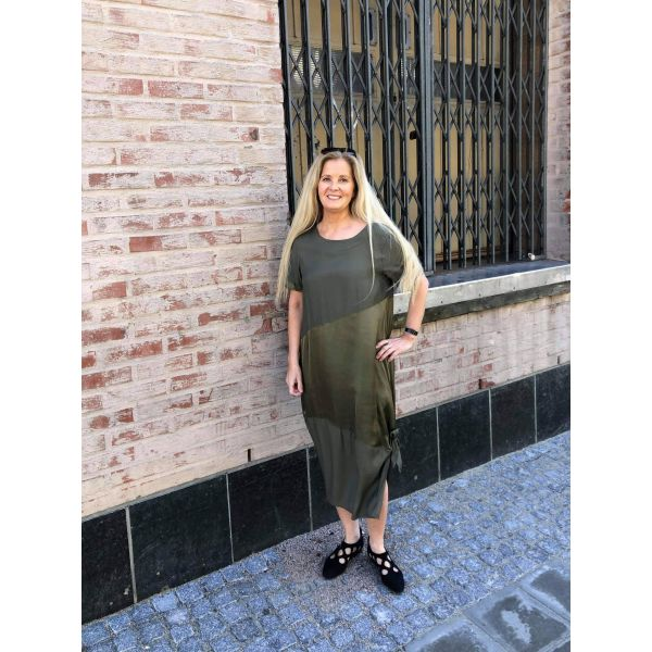 Eleonora Amadei Kjole - Militærgrønn