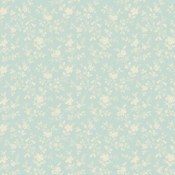 Bluebird blue-cream floral