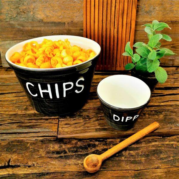 Chipsskål sort