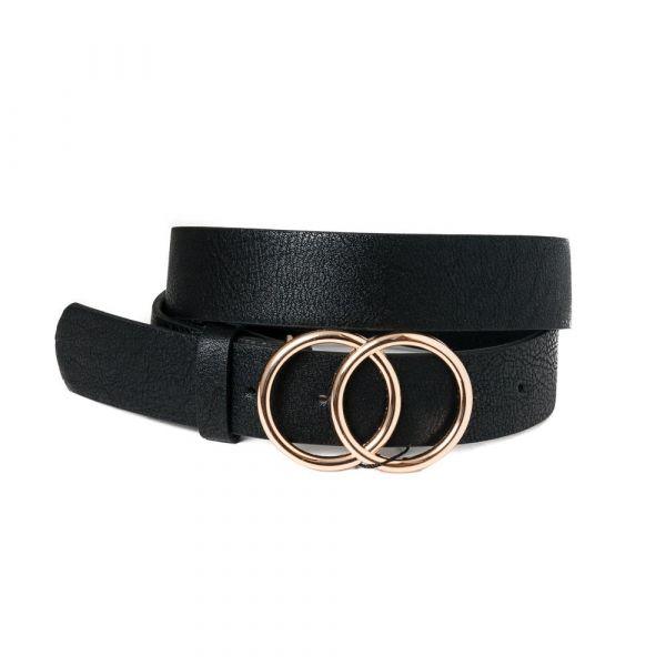 Rosenvinge Belt black double ring 690901