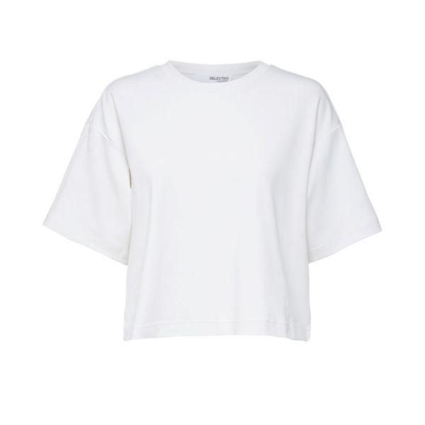 Frame O-Neck Crop Tee - White