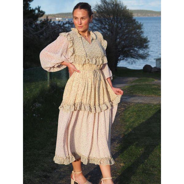 Barbara Dress, Flower Mix