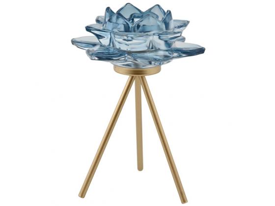 Telysholder blomst blå