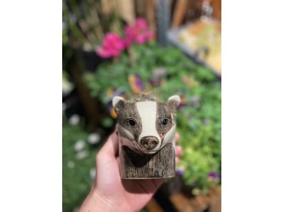 Grevling penneholder/kaffekopp - Quail ceramics (Badger)