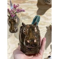 Flodhest penneholder/kaffekopp - Quail ceramics (hippopotamus)