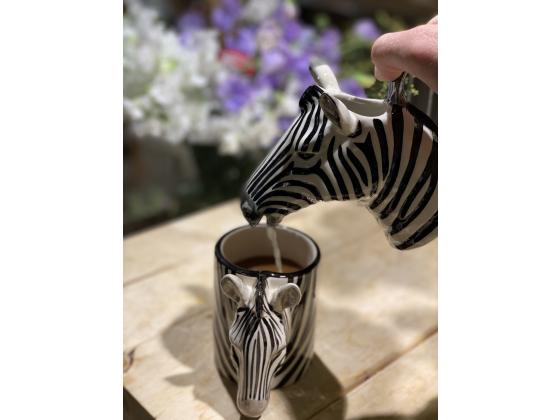 Zebra mugge - Quail ceramics