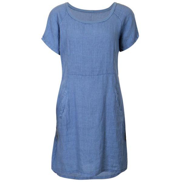 ML Mille jeansblue rib dress ML1060