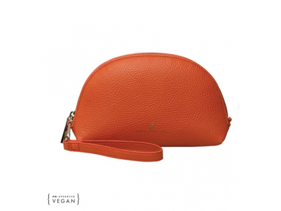 Beauty Case with Wristlet, Flamingo Orange
