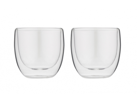 Doublewalled glasses espresso (set with 2 glasses)