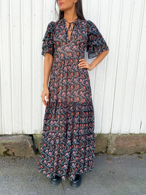 Georgette Maxi dress - Dark Wallpaper