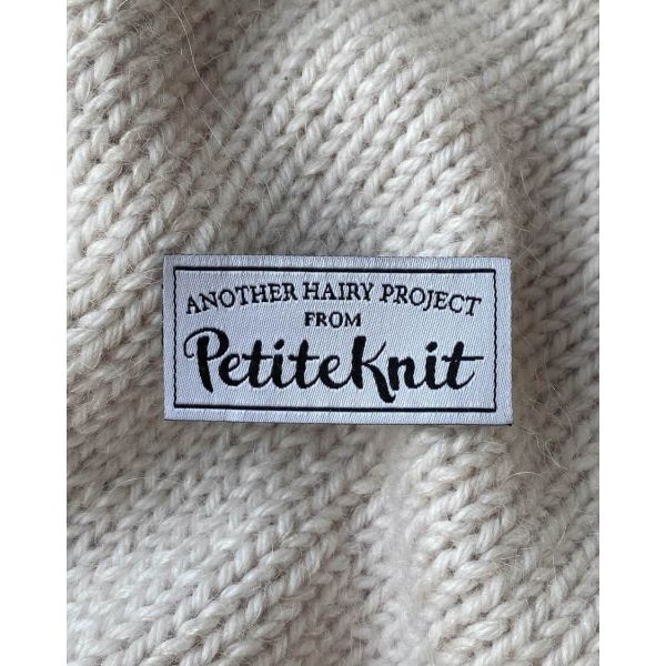 """PetiteKnit - """"Another Hairy Project From PetiteKnit""""-label"""