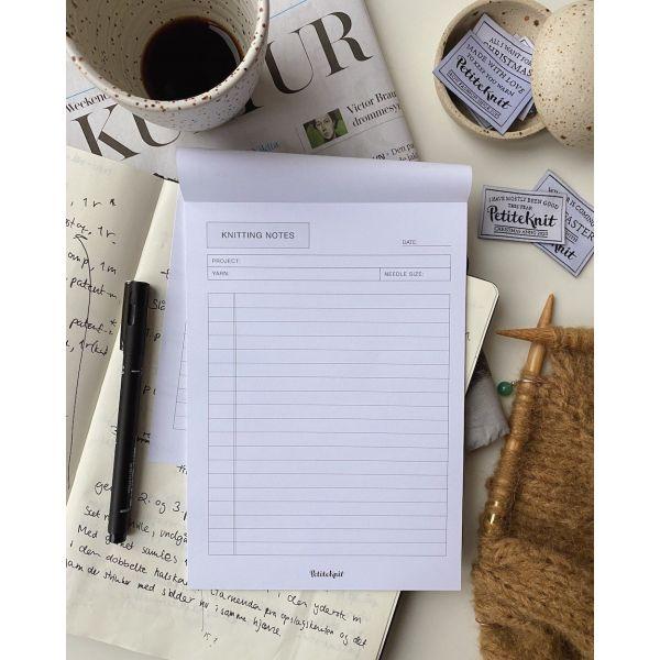 "PetiteKnit - ""Knitting Notes""-blokk A5"