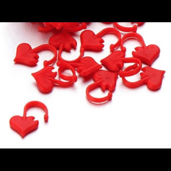 Maskemarkører - Hjerte 10stk