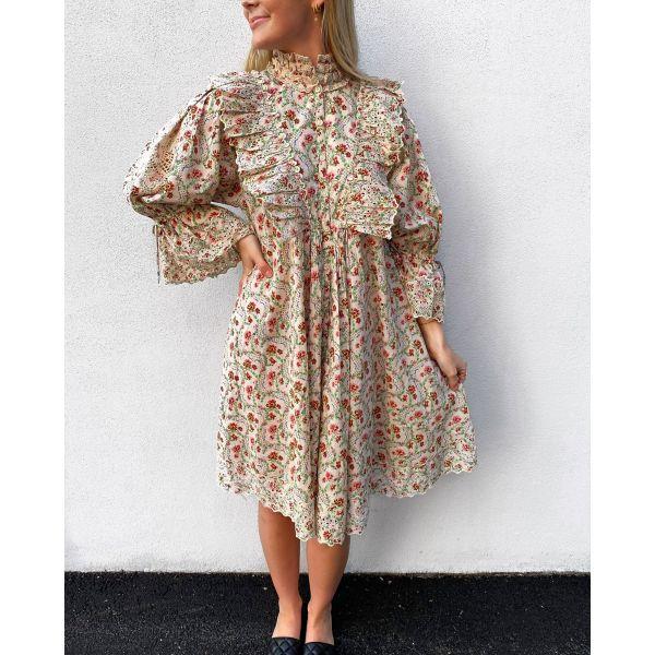 Cotton slub shift dress - Light Wallpaper