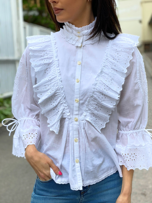 Cotton Slub Shirt - White