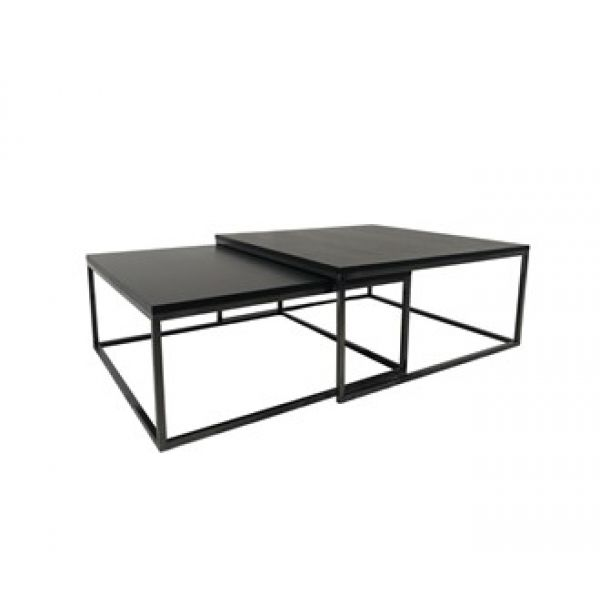 Salongbord Oceanside 2 firkantede bord, antrasitt metall sor