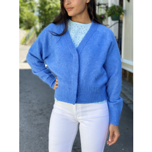 Brook Knit Boxy Cardigan - Bel Air Blue