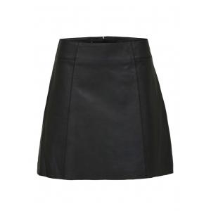 Ibi Leather Skirt - Black