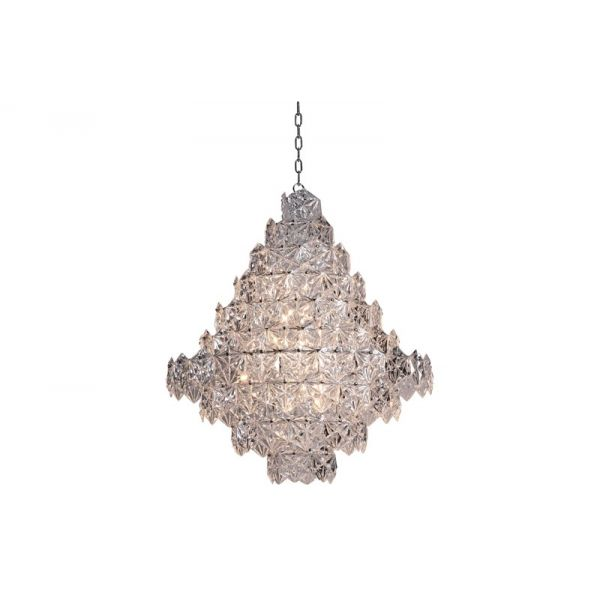 Taklampe Krakow crystal glass with steel D80 x H95CM