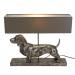 Lampe - dachshund (sølv/grå)