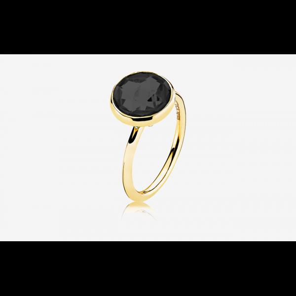 Prima Donna - Ring forgylt Black