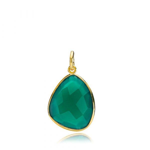 Orient Green Onyx - Anheng forgylt sølv