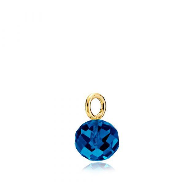 Marble - Anheng forgylt Royalblue Crystal Glass