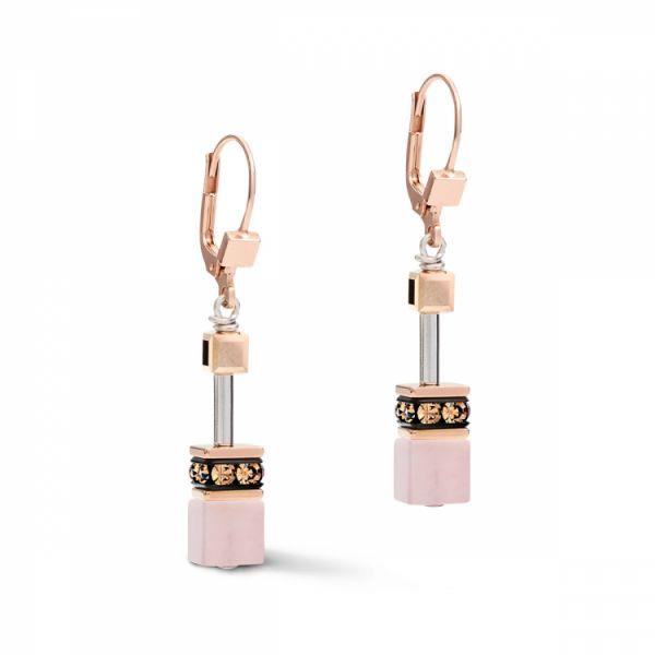 GEOCUBE Pastel Pink Earrings