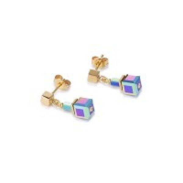 GEOCUBE Multicolour Hematite Earrings