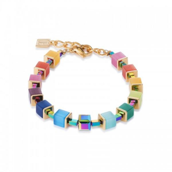 GEOCUBE Multicolour Hematite Bracelet
