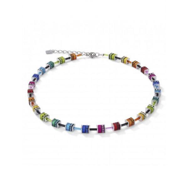 GEOCUBE Classic polaris & rhinestone multicolour necklace