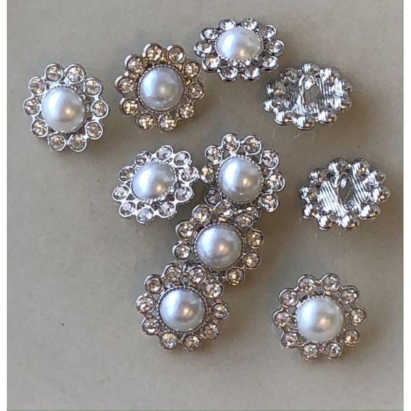 Bling med perle - 18mm