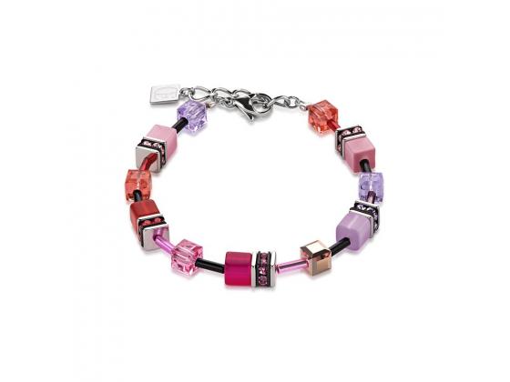 GEOCUBE Multicolor Red Rose Bracelet