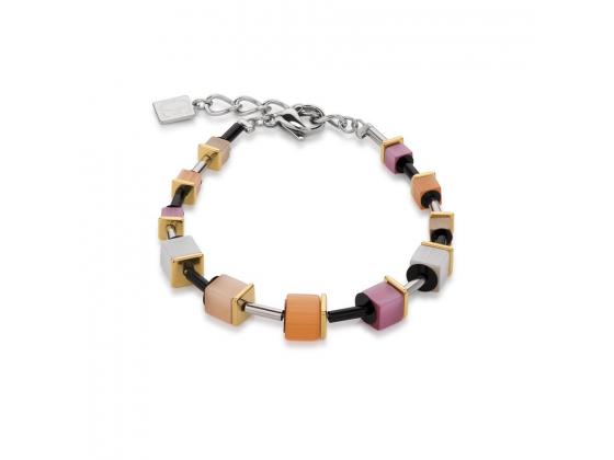 GEOCUBE Multicolor Pink/Peach Bracelet
