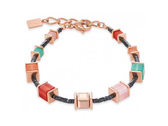 GEOCUBE Multicolor Mint/Peach Bracelet
