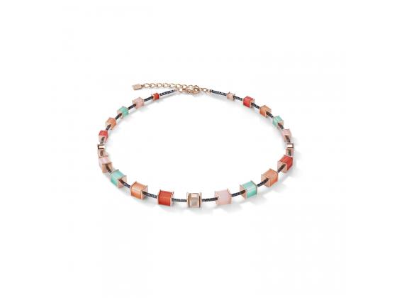GEOCUBE Multicolor Mint/Peach Necklace