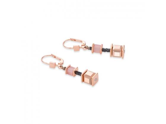 GEOCUBE Multicolor Mint/Peach Earrings
