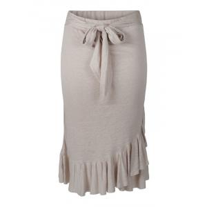 Jea Linen Skirt Beige