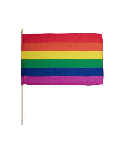 Håndflagg regnbue