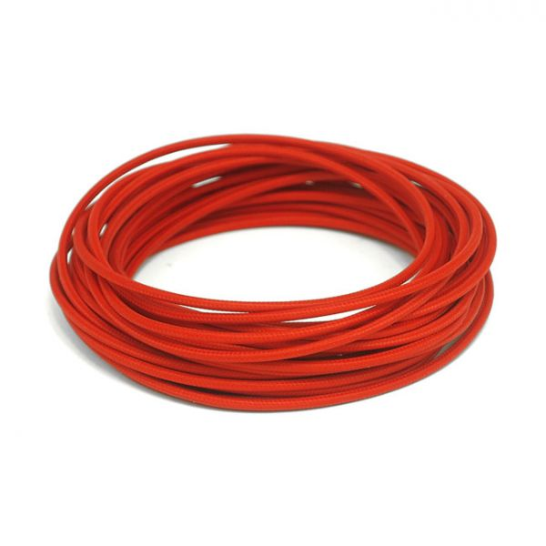 7,5 M. RED.CLASSIC CLOTH COVERED WIRING,