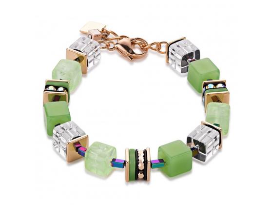 LARGE GEOCUBE Multicolor Green Bracelet