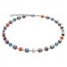 GEOCUBE Blue/Orange Necklace