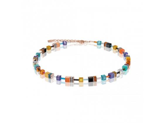 GEOCUBE Coral Blue Necklace